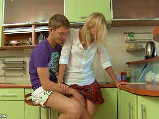 AnyPorn Sex Video - Hot Girl In School Uniform Gets Ass Fucked In A Kitchen