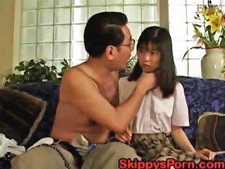 DrTuber Sex Video - Japanese Schoolgirl Gets Her Pussy Licked By An Older Man Drtuber